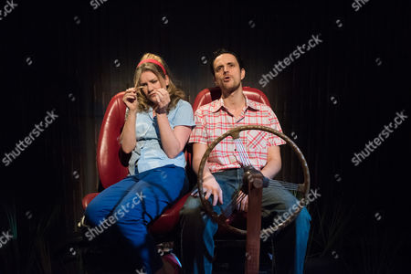 How I Learned to Drive, by Paula Vogel, directed by Jack Sain, at Southwark Playhouse. Olivia Poulet (LI'L BIT) and William Ellis (Peck).