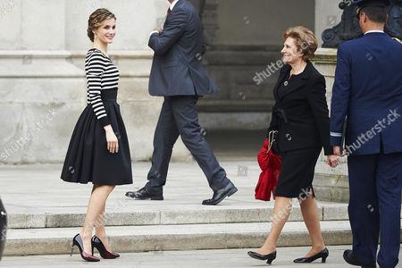 Maria Alves da Silva and Queen Letizia