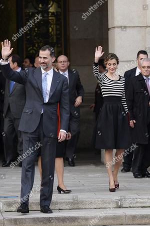 Maria Alves da Silva, Anibal Cavaco Silva, King Felipe VI and Queen Letizia