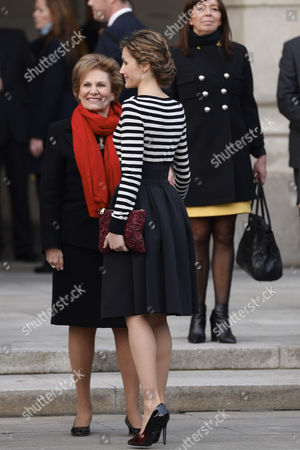 Editorial image of Spanish Royals attend a reception for the closure of 'Eixo Atlantico do Noroeste Peninsular' General Assembly, A Coruna, Spain - 19 Feb 2015