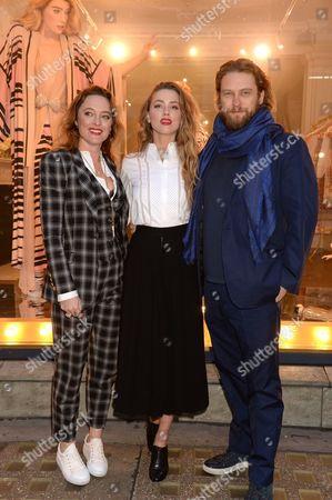 Alice Temperley, Amber Heard and Greg Williams