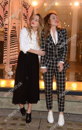 Alice Temperley and Amber Heard