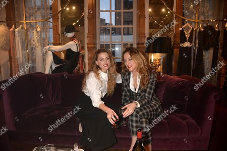 Stock Image of Amber Heard and Alice Temperley