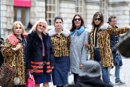 Brix Smith, Aimee Phillips, Pixie Geldof and Alexa Chung