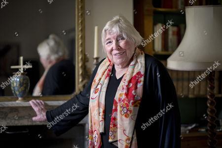 Editorial photo of Fay Weldon photoshoot, Shaftesbury, Britain - 12 Feb 2015