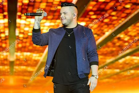 Stock Picture of Paul Akister in concert during the X Factor Live Tour