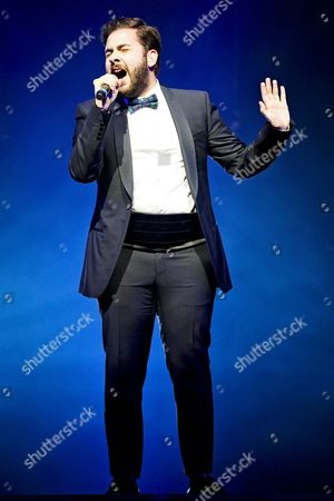 Andrea Faustini in concert during the X Factor Live Tour