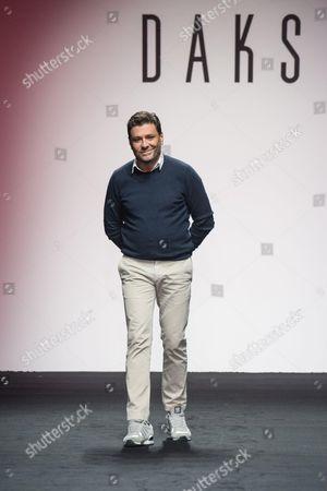 Filippo Scuffi on the catwalk