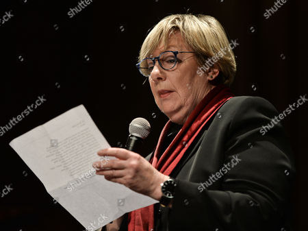 Stock Image of Ewa Lipska, a Polish poet from the generation of the Polish New Wave