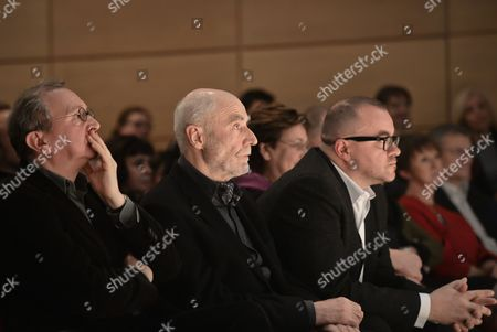 Stock Photo of (L-R) Bronislaw Maj, Ryszard Krynicki and Marcin Baran