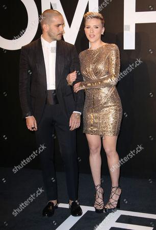 Scarlett Johansson and husband Romain Dauriac