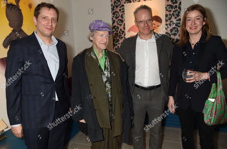 Michael Horovitz and Hans-Ulrich Obrist with guests