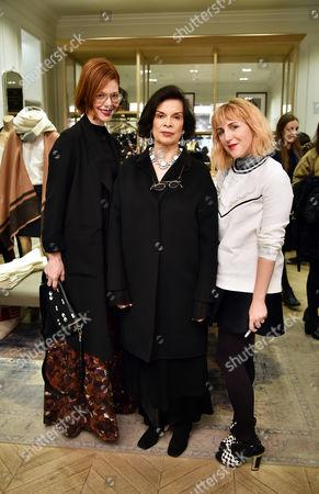 Christene Barberich, Bianca Jagger and Piera Gelardi