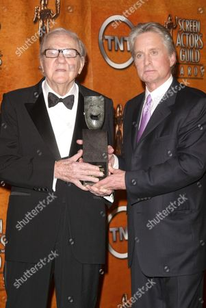 Stock Picture of Karl Malden and Michael Douglas