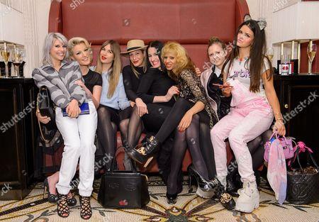 Pips Taylor, Natalie Coyle, Francesca Hodge, Laura Pradelska, Amy Molyneaux, Joy Vieli, Anna Parkinson and Bip Ling