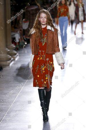 Hollie-May Saker on catwalk