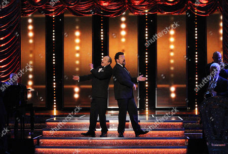 James Bolam takes to the stage with singer Michael Ball