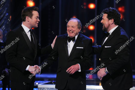 Stephen Mulhern with Actor James Bolam and singer Michael Ball