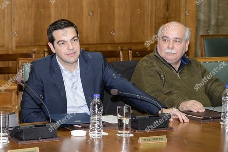 Alexis Tsipras and Deputy PM Yannis Dragasakis