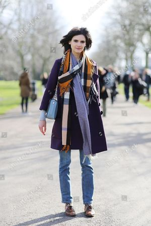 Editorial photo of Street Style at Autumn Winter 2015, London Fashion Week, Britain - 23 Feb 2015