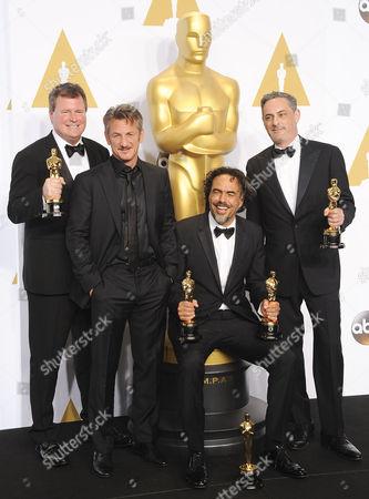 John Lesher, Sean Penn, Alejandro Gonzalez Inarritu, James W. Skotchdopole