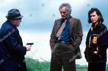 George Pravda, Terence Stamp and Carmen Du Sautoy
