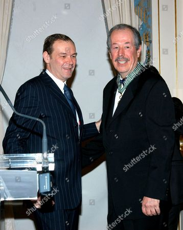 JEAN JACQUES AILLAGON AND DENYS ARCAND