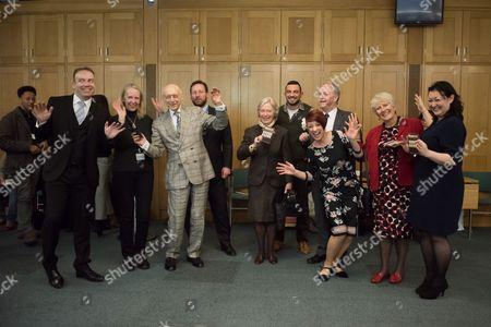 Stock Photo of MPs (including Chris Heaton-Harris, Gerald Kaufman) and DanceUK representatives (Robin Windsor, Jenny Thomas and Caroline Miller).