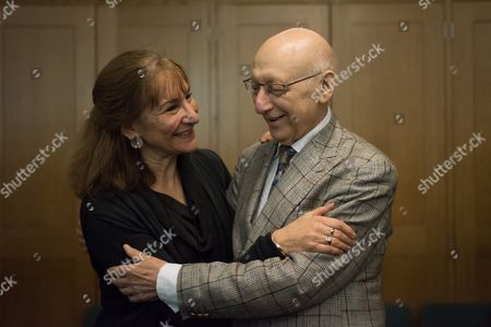 Stock Image of Fern Potter and Gerald Kaufman (MP and chair of the All-Party Parliamentary Dance Group)
