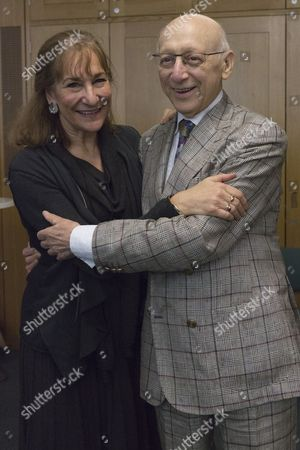 Stock Picture of Sir Gerald Kaufman, Chair of the All Party Dance Group, with Fern Potter of Dance UK