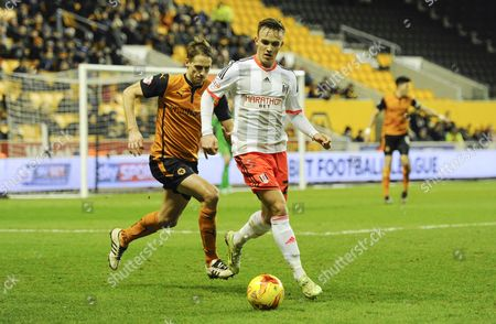 David Edwards of Wolverhampton Wanderers and Lasse Vigen Christensen of Fulham