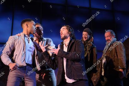 Elliot Barnes-Worrell (Straker), Ralph Fiennes (Jack Tanner), Tim McMullan (Mendoza), Naomi Cranston (The Sulky Social Democrat), Colin Haigh (The Anarchist)