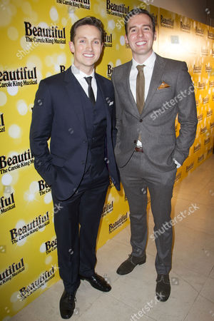 Stock Picture of Dylan Turner (Ensemble) and Ed Currie (Ensemble) attend the after party on Press Night for Beautiful - The Carole King Musical at Somerset House, London, England on 24th February 2015. (Credit should read: Dan Wooller/wooller.com). Paid use only. No Syndication