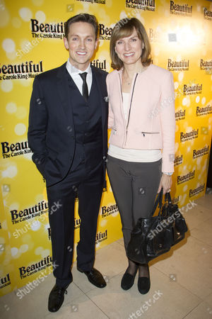 Dylan Turner (Ensemble) and Fiona Bruce attend the after party on Press Night for Beautiful - The Carole King Musical at Somerset House, London, England on 24th February 2015. (Credit should read: Dan Wooller/wooller.com). Paid use only. No Syndication