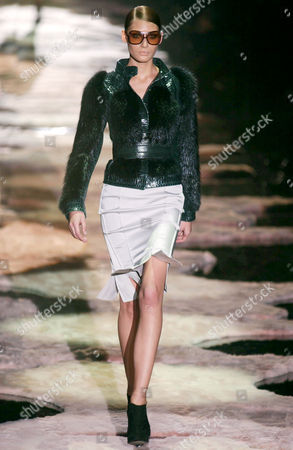 Editorial image of GUCCI FASHION SHOW AUTUMN / WINTER, MILAN, ITALY - FEB 2004