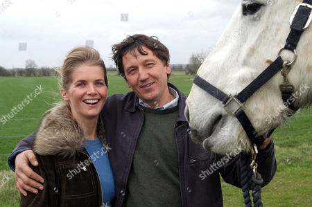 Alexandra Tolstoy and Shamil Galimzyanov at their stables in Oxford, Britain - 2004