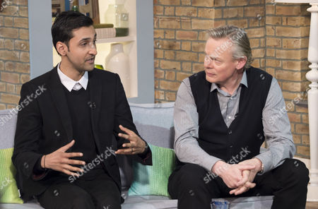 Arsher Ali and Martin Clunes