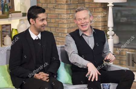 Stock Picture of Arsher Ali and Martin Clunes