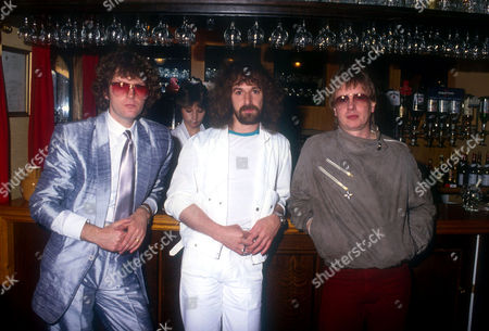 Barclay James Harvest - John Lees, Les Holroyd and Mel Pritchard, London, Polydor Records Boat Trip, London, Britain