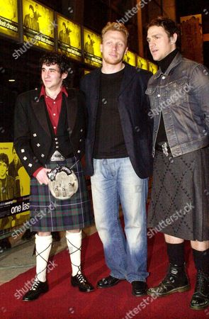 L-R Iain Robertson, Kevin McKidd and Jamie Sives