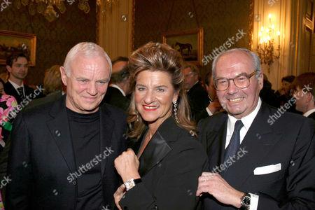Werner Baldessarini, Agnes Baltsa and Karl Scheufele