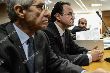 Former finance minister Giorgos Papakonstantinou waits prior to his hearing
