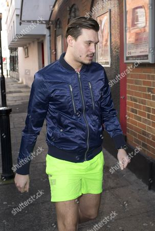 Charlie Sims arrives for Full Moon Party shoot