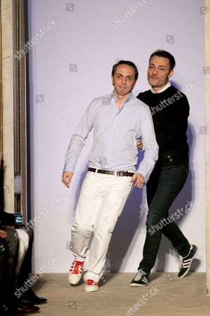 Tommaso Aquilano and Roberto Rimondi on the catwalk
