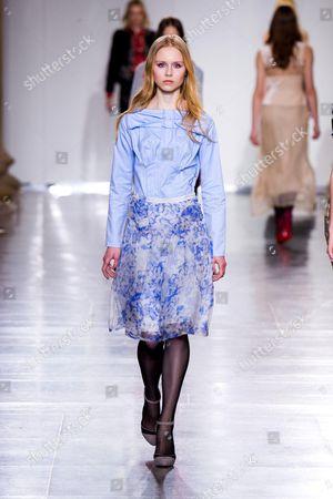 Editorial photo of Michael van der Ham show, Autumn Winter 2015, London Fashion Week, Britain - 24 Feb 2015