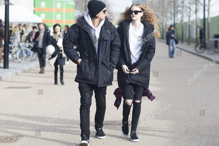 Mathew Mills and Hollie-May Saker; models after Preen;