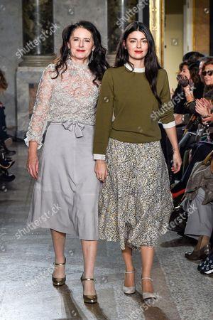 Luisa Beccaria and Lucilla Bonaccorsi on the catwalk