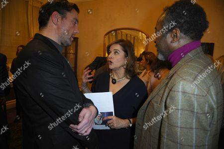 Peter Serafinowicz, Diana Quick and Joseph Mydell