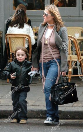 PATSY KENSIT AND HER SON LENNON GALLAGHER