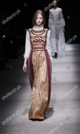 Stock Photo of Hollie-May Saker on the catwalk